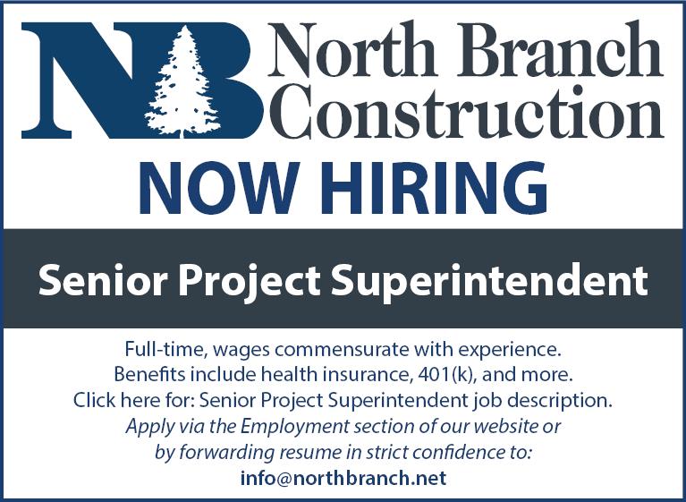 Senior Project Superintendent Job Posting