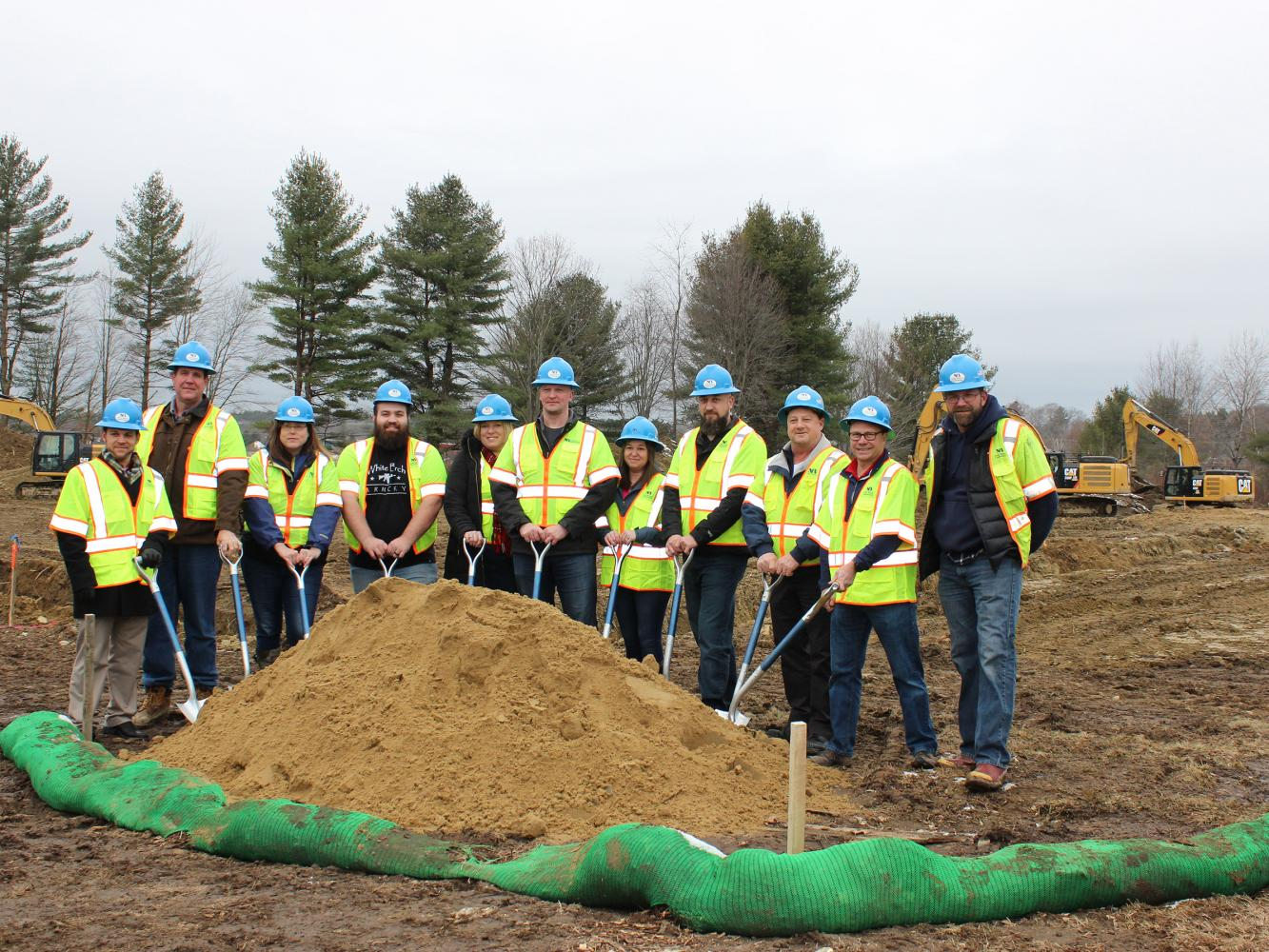 North Branch Construction Groundbreaking with White Birch Armory