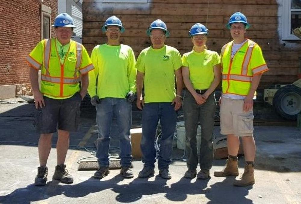 North Branch Construction Volunteers for Building on Hope Renovation