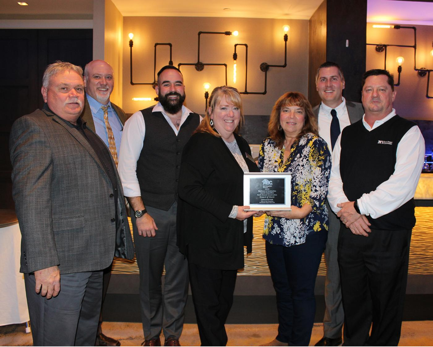 North Branch Receives Award at ABC's 2019 Excellence in Construction Dinner