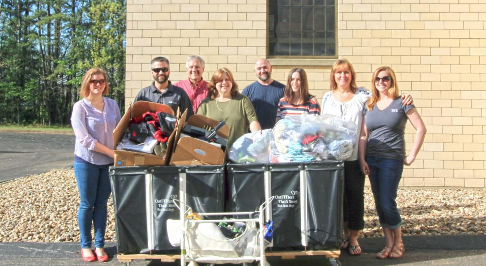 North Branch Employees Contribute to Families in Transition